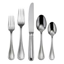 omnia 18 10 stainless steel 62 pc flatware set
