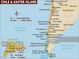 Map Chile Map Of Chile And Easter Island Stock Illustration Getty Images