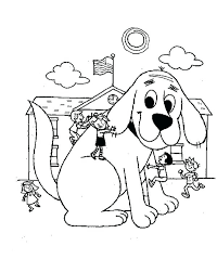 coloring page of a big dog clifford coloring pages free clifford halloween coloring pages