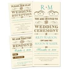 cheap wedding invitation sets 3 for 1 wedding invitations invitations by