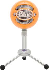 amazon com blue snowball usb microphone bright orange musical