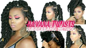 havana twist hairstyles easy jumbo havana twists rubber band method styling on natural