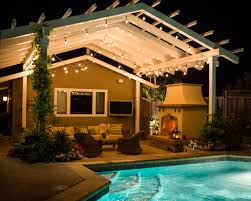 Pool Pergola Designs by Pleasant Inground Swimming Pool To Complete Luxurious Courtyard