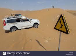 dune jeep jeep stuck on a sand dune in badain jaran desert inner mongolia