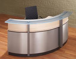 Curved Reception Desk Crescent Modern Reception Desk Stoneline Designs