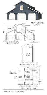 3 Car Detached Garage Plans by Oversized Garage Plans Behm Design Wide Range Of Garage
