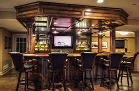 marvelous small basement bar ideas with modern high counter stools