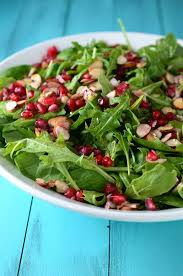 spinach arugula almond and pomegranate salad s ambrosia