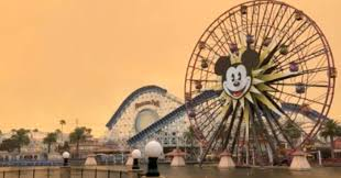 Wildfire Anaheim by Raging Wildfires Turn Skies Above Disneyland An Apocalyptic Orange