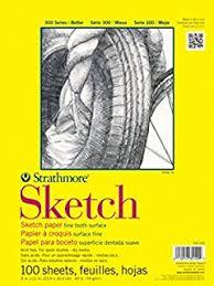 amazon com strathmore 300 series sketch pad 9