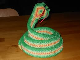 Origami Snake - 3d origami snake by cryatalsbluecat1 on deviantart