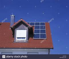 germany residential house house roof detail solar panels