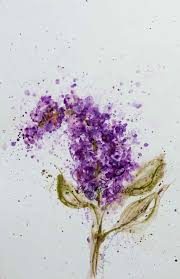 Lilac Flower by Single Purple Lilac Watercolor Blossom Flower Art Giclee Print