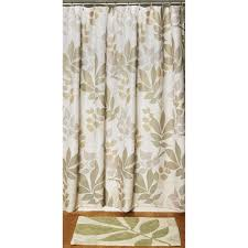 Leopard Bathroom Set Walmart Shadow Leaves 2 Piece Bathroom Set Shower Curtain And Rug
