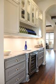 Kitchen Cabinet Glass Door by Gray Kitchen Cabinets Burrows Cabinets Central Texas Builder