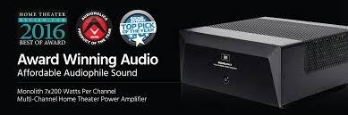 top amplifiers for home theater monolith 7x200 watts per channel multi channel home theater power