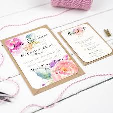 summer wedding invitations summer bloom wedding invitation by studio