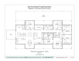 goat barn floor plans barns with living quarters denali barn barn pros