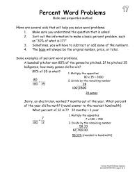 brilliant ideas of percent word problems worksheets grade 7 also