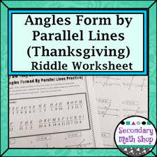 parallel lines angles formed by parallel lines thanksgiving