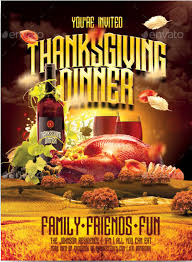 thanksgiving dinner flyer templates happy thanksgiving