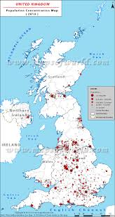 Population Map Uk Population Map Demography Of The United Kingdom