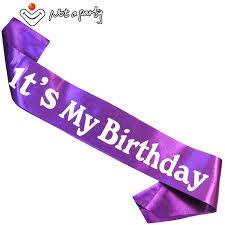 purple ribbons purple ribbon birthday girl sash ceremony gift birthday