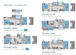 small c floor plans 2011 jayco greyhawk class c motorhome floorplans rv homes