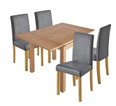 ebay dining table and 4 chairs collection clifton extendable dining table 4 chairs grey from