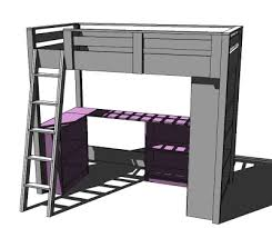 Diy Loft Bed With Desk White Loft Bed Small Bookcase And Desk Diy Projects