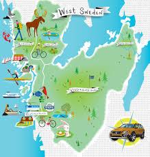 volvo sweden website volvo tourist maps of western sweden illustrations pinterest
