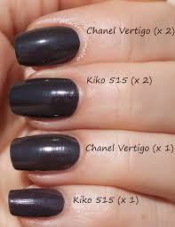 kiko 515 vs chanel vertigo dupes pinterest vertigo dupes