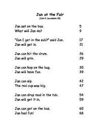kindergarten reading passage reading fluency passages kindergarten units3 6 by