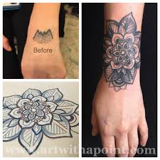 with a point black and gray coverup custom studio