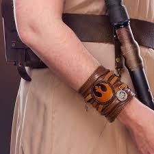 wrist cuff bracelet images Star wars ep 7 rey leather cuff bracelet thinkgeek jpg
