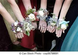 corsage for prom prom corsages beautiful dresses with corsage stock