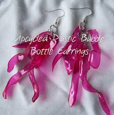plastic bottle earrings poppy juice jewelry made from recycled plastic bottles