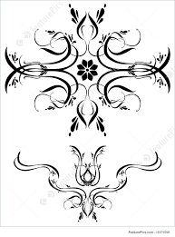 illustration of fancy detailed decorations ornamental