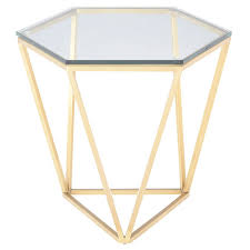 Gold Side Table Louisa Modern Side Table Gold
