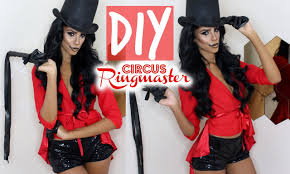 diy halloween costume circus ringmaster youtube