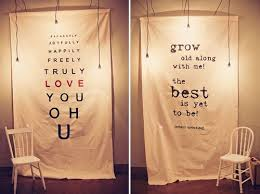 wedding backdrop quotes wedding quotes sayings grow with me large quotes