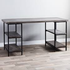 Metal Office Desks Renate Reclaimed Wood And Metal Office Desk Free