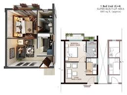 1 bhk floor plan 1 bhk apartment in joka g 4 plan ground floor typical block