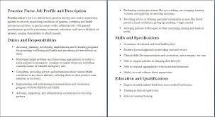 sample of registered nurse resume registered nurse job description resume resume cover letter template registered nurse job description resume