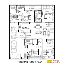 house plan for 48 feet by 58 feet plot plot size 309 square yards