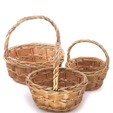wicker easter baskets baskets with handles wholesale easter baskets