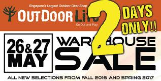 outdoor life outdoor life singapore 2 days warehouse sale up to 80 off