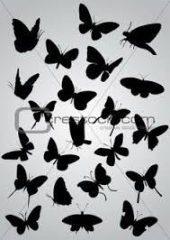 madam butterfly silhouette gl stock images small
