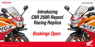 cbr india honda cbr 250r repsol racing replica edition unveiled bookings open