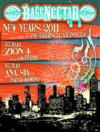 bassnectar nye poster bassnectar 12 30 10 bassnectar in atlanta at the tabernacle
